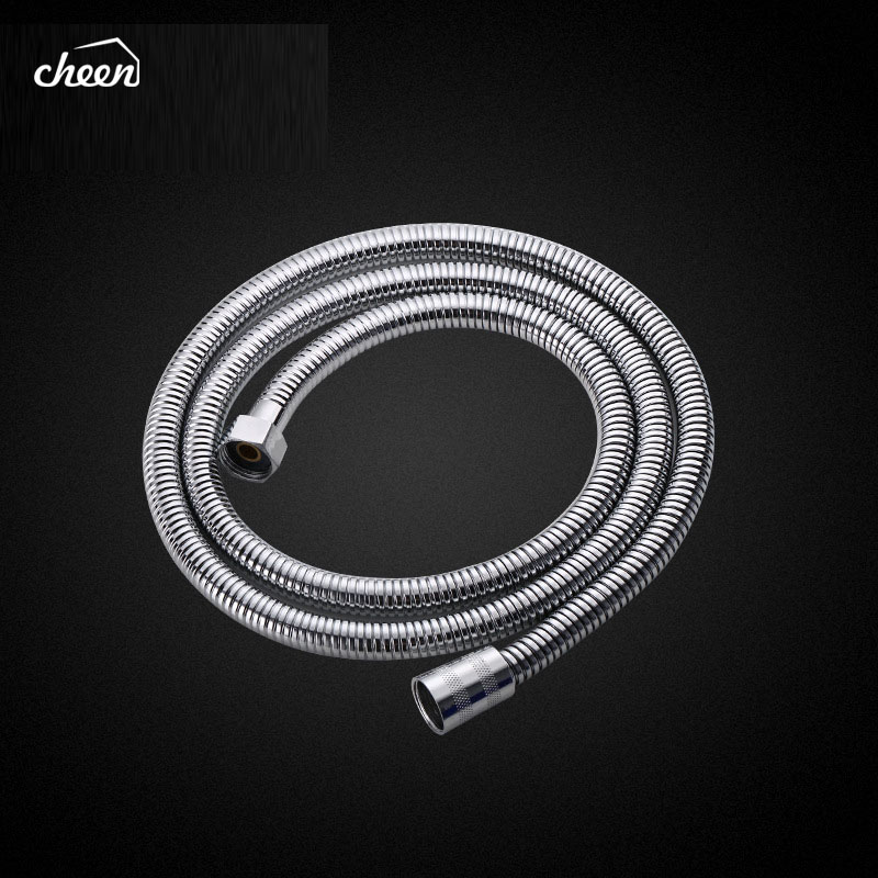 High Quality Reinforced 1.5m Soft Flexible Shower Hose Bathroom Accessories Stainless Steel Hose Bathroom Water Pipe