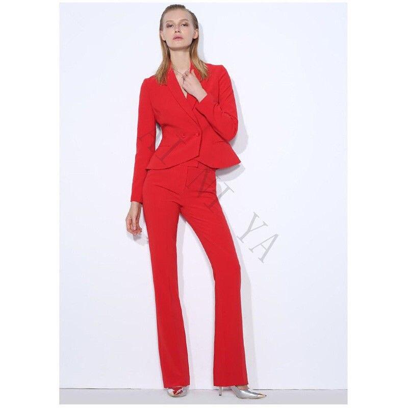 Office Uniform Designs Women Formal Pant Suits for Weddings Women Evening Party Suits Women Suits Blazer Suit Set Slim Fit 2018