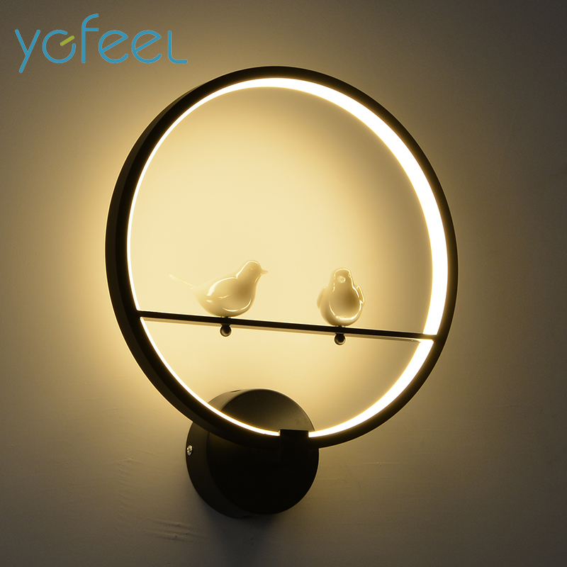 [YGFEEL] 18W LED Wall Lamp Modern Creative Bedroom Beside Wall Light Indoor Living Room Dining Room Corridor Lighting Decoration modern crystal chandelier hanging lighting birdcage chandeliers light for living room bedroom dining room restaurant decoration