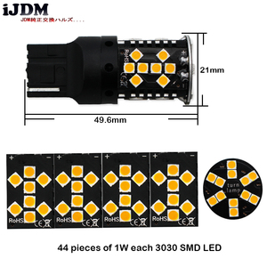 Image 3 - iJDM Canbus Error Free 7440 LED No Hyper Flash 21W Amber yellow W21W T20 LED Replacement Bulbs For Car Turn Signal Lights,12v