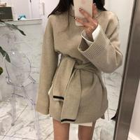 2018 New Women Fashion Trend Spring Knitted Dress South Korea Female Chic Plus Fashion Accessory Bandage