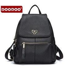 Doodoo мода женский рюкзак высокое качество Молодежная повседневная искусственная кожа рюкзак для девочек-подростков Студентка сумка Лидер продаж
