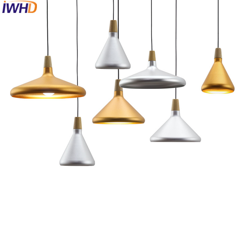IWHD Modern Iron Pendant Lights Led Pendant Lighing Fixtures Fashion wood Hanging Lamp Creative Kitchen Dining Lampara  IWHD Modern Iron Pendant Lights Led Pendant Lighing Fixtures Fashion wood Hanging Lamp Creative Kitchen Dining Lampara