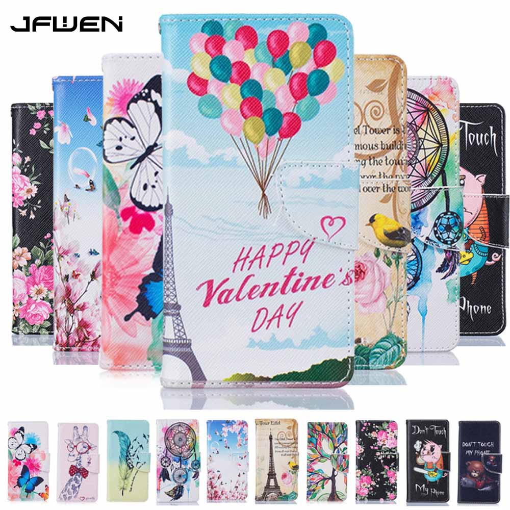 Galleria fotografica JFWEN Flip Case For Samsung Galaxy J3 2016 Case Wallet Stand Luxury PU Leather Painted Phone Case For Samsung J3 2016 J320 Cover