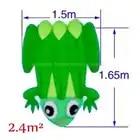 1 шт. высокое качество огромный синий/желтый задний мягкий воздушный змей «лягушка» Открытый спортивные воздушные змеи легко лететь зеленая лягушка летающая игрушка 2,4 квадратных метров - 3