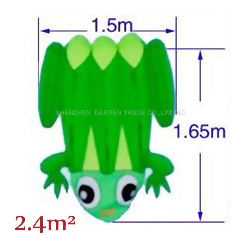 1PC Hohe Qualität Riesige Blau/gelb zurück weiche frosch Kite Outdoor Sport Drachen Einfach zu Fliegen grün frosch fliegen spielzeug 2,4 quadratmetern - 3