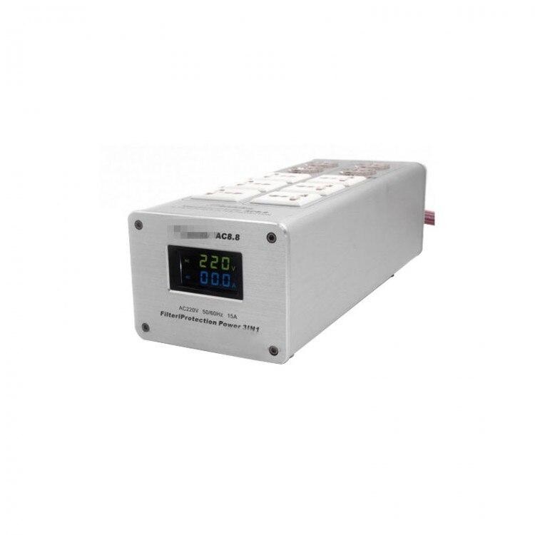 Weiduka AC8.8 3000W 15A Advanced Audio Power Purifier Filter AC Power Socket Dual LED Display ac8 8 3000w 15a audio power purifier filter ac power socket
