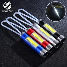 Đèn Pin LED MINI COB Làm Việc Đèn Chạy bằng 1 pin AAA Thích Hợp cho nhiều dịp