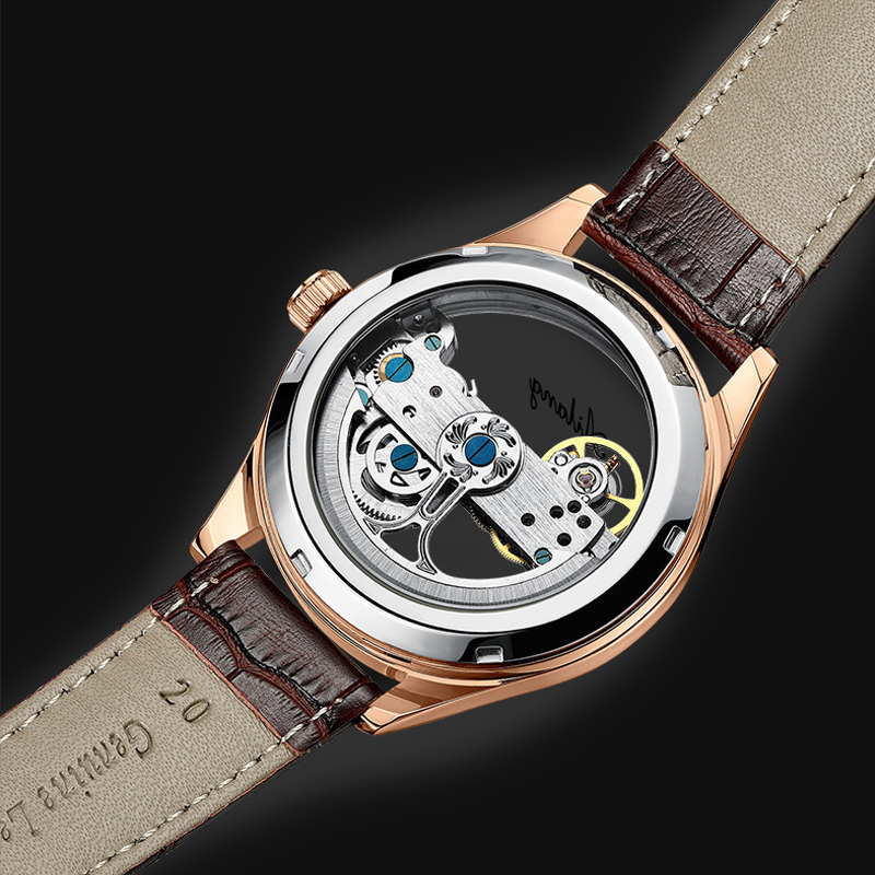 New concept watch transparent design automatic mechanical watch men casual fashion diesel engine watch Swiss top brand 2019 male