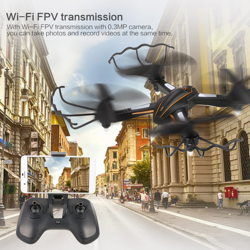 2018 Sky Aerial Camera Toy WiFi 0.3MP FPV RC Drone with Camera Drones Altitude Hold Sefie Dron RC Quadcopter RTF with Controller dm dm106 wifi fpv with 2mp 0 3mp camera altitude hold rc drone quadcopter rtf mode 2 with transmitter phone control with led toy