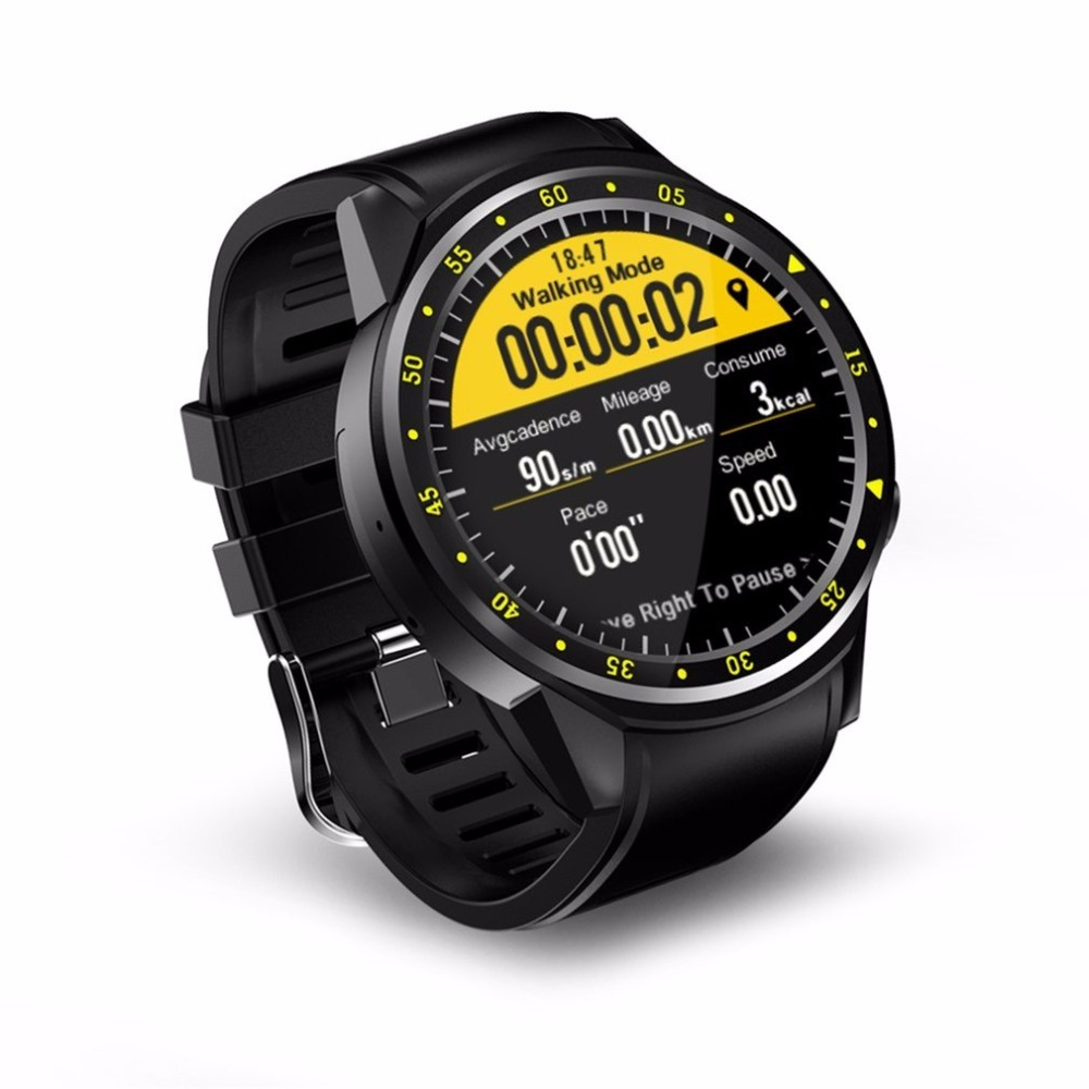 F1 Sport Smart Watch With GPS Camera Bluetooth SIM Card Wristband for Android IOS For Men Women Outdoor Gift Heart Rate Monitor image