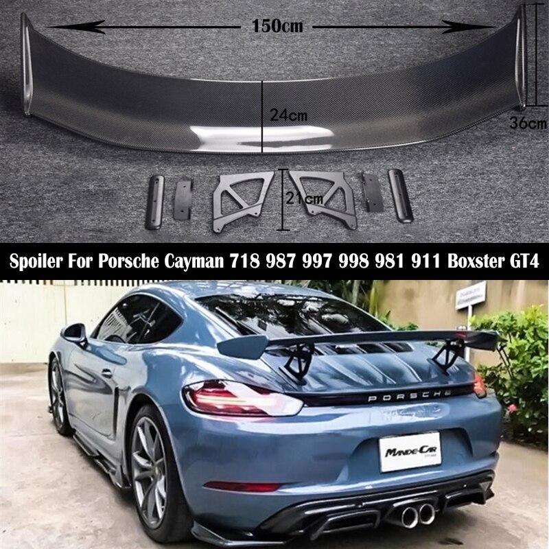 "FOR CARBON FIBER  51/"" UNIVERSAL 996 911  911 987 991  GT REAR WING TRUNK SPOILER"