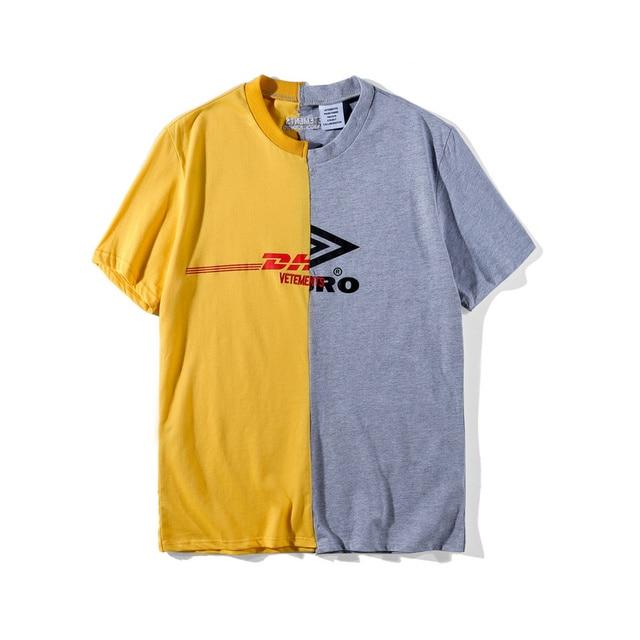 07f132f0157e NEW Best Version Vetements HongKong Collection DHL Patch Work Women Men T  Shirt Hiphop Cotton Men T shirts Tops Tees Oversized