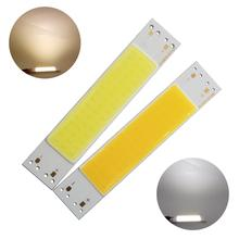 цена на 100*20mm 3W LED COB Strip module Light Source manufacturer Lamp 9V DC White Warm White Bar LED FLIP Chip Bulb for DIY lamp