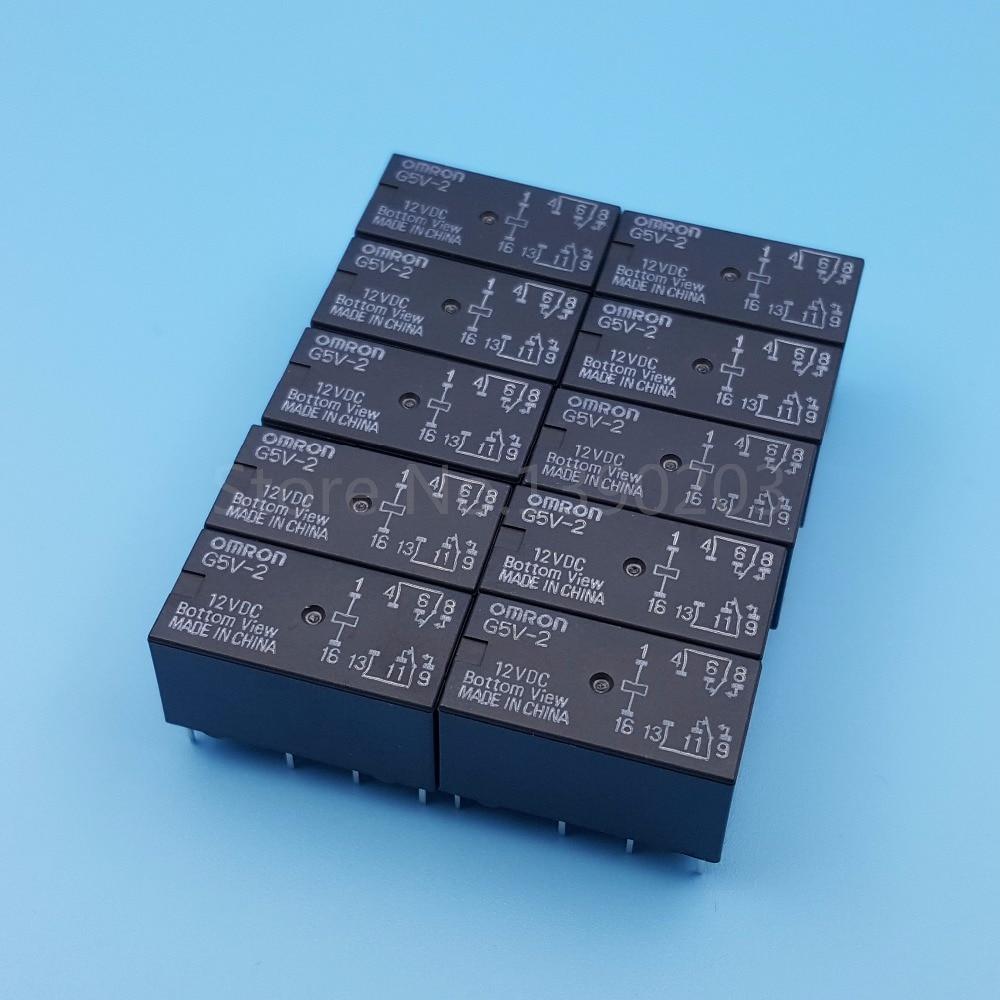 10PCS G5V-2-12VDC G5V-2-DC12V Relay ORIGINAL OMRON 8PINS