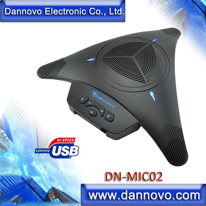 DANNOVO USB Omni-directional Speakerphone,360 degree Pickup, Plug and Play,for Windows,MAC,Linux, Skype,Lync,MSN
