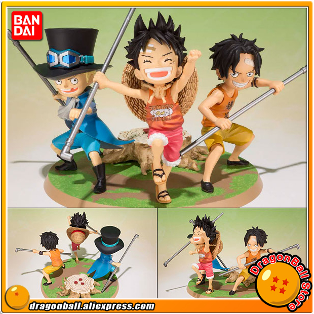 Japan Anime ONE PIECE Original BANDAI Tamashii Nations Figuarts Zero Figure - Luffy, Ace, Sabo -Gikyoudai no Yakusoku- japan anime one piece 100% original bandai tamashii nations figuarts zero toy figure sabo 5th anniversary edition