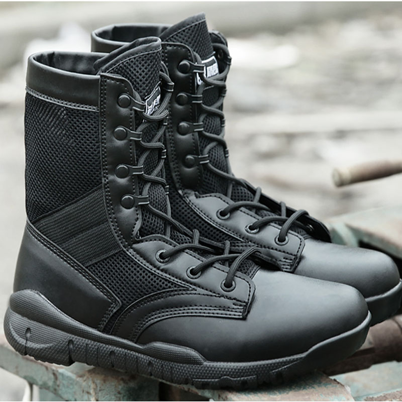 53114f82af6 Outdoor Tactical Boots Mens Snow Boots Army Men Hiking Shoes ...