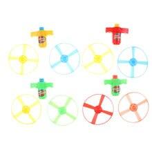 Gyroscopes en plastique, chaînes, soucoupes volantes, jouets faits à la main, libellule en bambou, cadeaux pour enfants, nouveauté