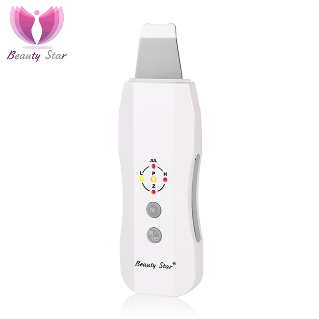 Beauty Star Skin Scrubber Massager Machine Facial Skin Deeply Cleaning Device Anion Face Skin Care Peeling Lifting Scrubber