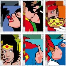 Película de superhéroe DC superman posters Vintage avión póster impresión Decoración Retro póster decoración en la habitación papel Kraft Póster