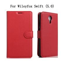 Роскошный чехол в стиле ретро для Wileyfox Swift(5,0) из искусственной кожи+ Мягкий силиконовый флип-чехол для Wileyfox Swift Smart Футляр для телефона