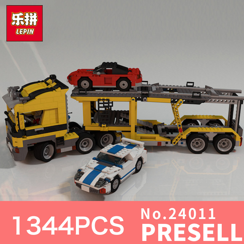 1344Pcs Lepin 24011 Technic Series The Three in One Highway Transport Set Educational Building Blocks Brick Toy Model Gift 6753 compatible with lego technic creative lepin 24011 1344pcs 3 in 1 highway transport building blocks 6753 bricks toys for children