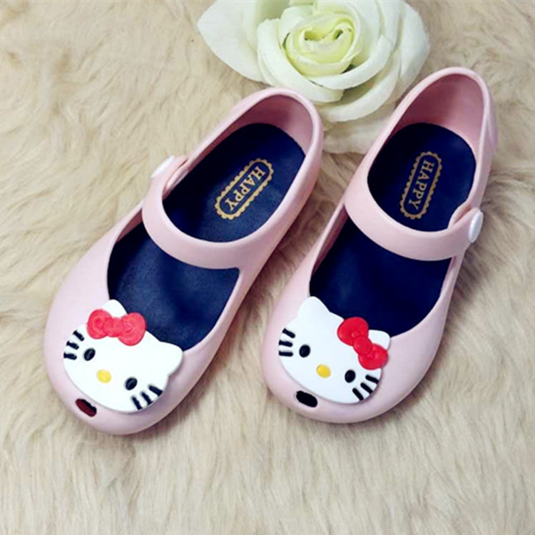 2017 New Hello Kitty Bowtie Ankle wrap Sandals Kids Shoes Summer Style Children s Shoes Girls