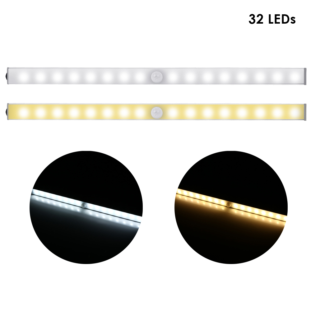 Pair Of TDL 7116B A Wireless 32 LEDs Light With Motion Sensor For Cabinet / Closet / Stair Lights Sensor Leds Motion Lights