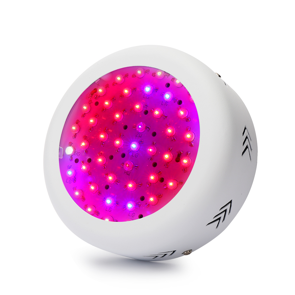 150W UFO Full Specturm LED Plant Grow Light 3W Chips Plant Lamp Red Blue White UV IR  For Hydroponics and Indoor plant 10pcs lot full spectrum led grow light 216w ufo grow box red blue white warm uv ir for indoor hydroponics plant and flower