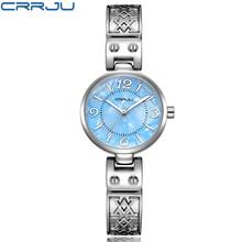 Zimowa wyprzedaż wyprzedaż kobiety kreatywny szczupły zegarek na rękę z paskiem bransoletą krótki projekt elegancja moda zegarki kwarcowe lady tanie tanio CRRJU QUARTZ 3Bar Bransoletka zapięcie Moda casual Stop Papier Odporne na wodę STAINLESS STEEL 28mm 2130 20inch Hardlex
