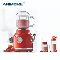 ANIMORE Portable Electric Blender Fruit Baby Food Juicer Milkshake Mixer Meat Grinder Multifunction Retro Juice Maker Machine