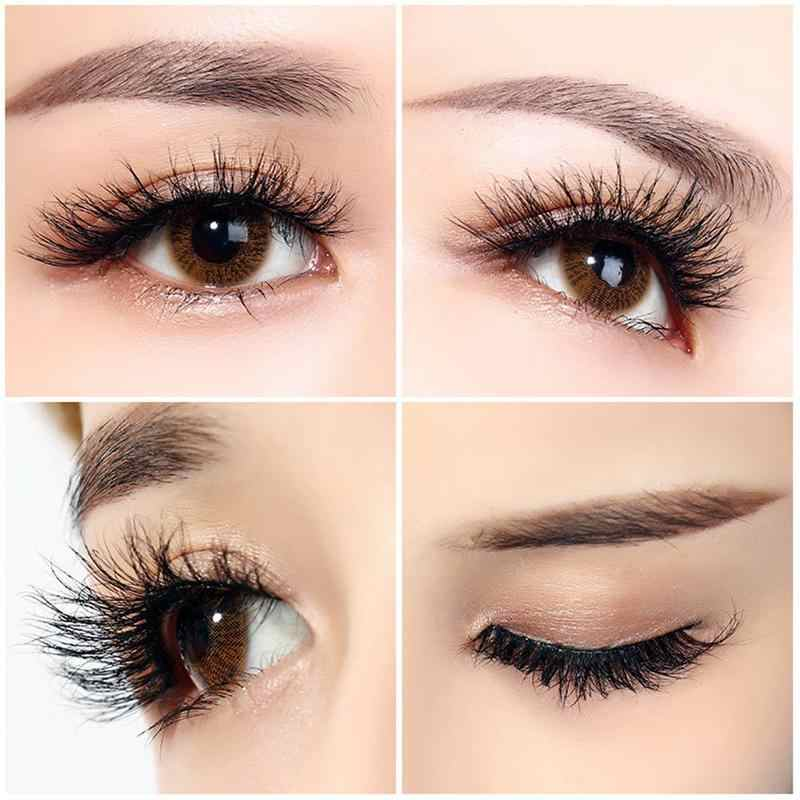 a71b34b05ff ... 5 Pairs Real Mink 3D Volume Thick Daily False Eyelashes Strip Lashes  Natural False Eyelashes Mink