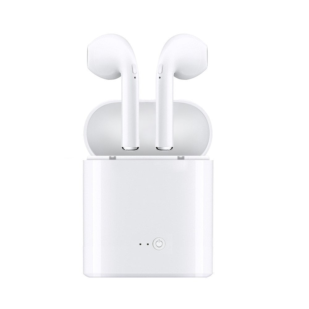 Bluetooth Earbuds,HBUDS i7 TWSWireless Bluetooth Headset With Charging Box Mini Binaural Stereo for all smartphone, Flat devices