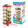Монтессори-Образование Детские Малыш Ребенок Knock Мяч Лестницы Deluxe Pound and Roll Башня Творчество Разработка Деревянная Игрушка