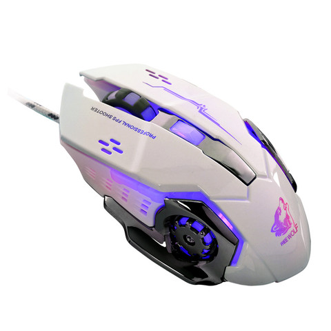 Brand Mouse Durable Gaming Mouse Wired LED Light 4000DPI Optical Usb Ergonomic Pro Gamer Gaming Mouse Metal Plate Lahore