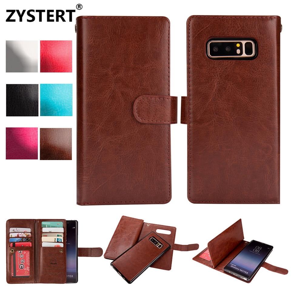 Для Samsung Note8 Новые Магнитные Кожаный противоударный 9 карт кошелек из бечёвки Съемная сумка для Samsung Galaxy Note 8 крышка fundas