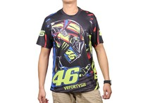 free shipping 2016 Valentino Rossi VR 46 – All Over Sublimation Print T-Shirt Sport VR 46 THE DOCTOR Shirt