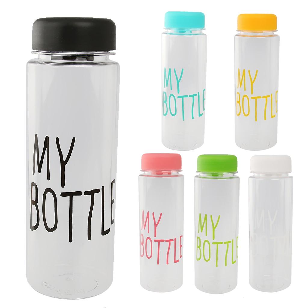Nueva caliente 500 ml botella de agua de plástico reutilizables jugo ...