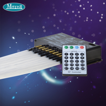 Maykit Wholesale Affordable DMX 512 Control LED Fibre Optic Decorative Meteor LED Projector Plastic Fiber Cable