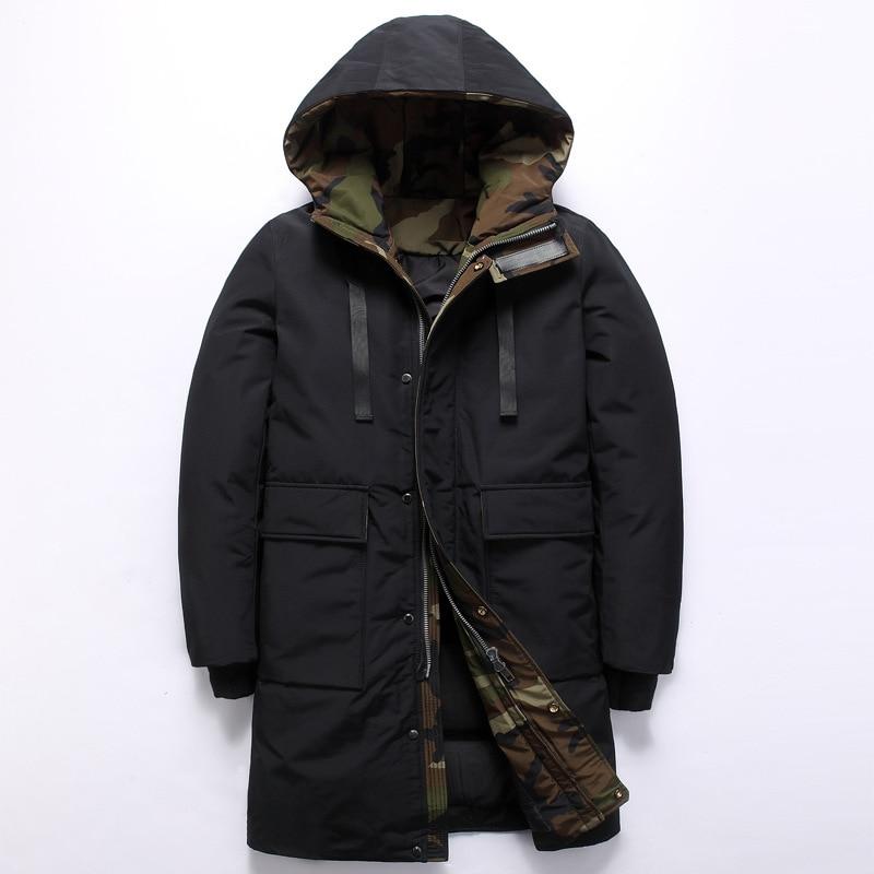 Männer Winter Jacke Ente Unten Jacken Männer Kleidung 2018 Fashions Dicke Warme Mäntel Mit Kapuze Lose Parka Veste Homme Hiver Zl1063 Daunenjacken