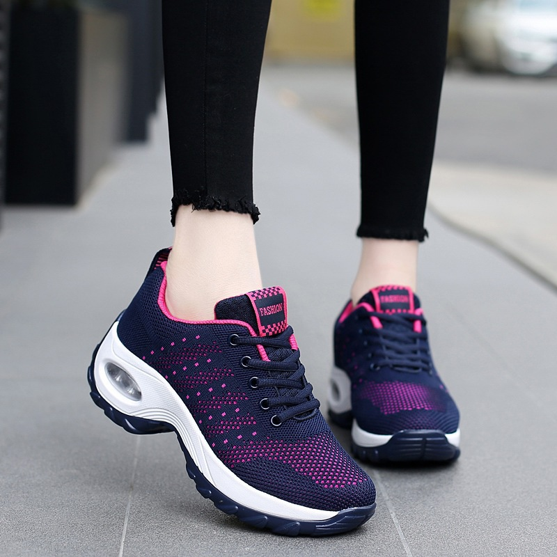 Sneakers Femmes Air Plein 2018 Plate purple Violet En Chaussures Rouge Tenis rose Respirant Blue Dark Red Feminino Casual Amortissement Compensées forme xww8WCn