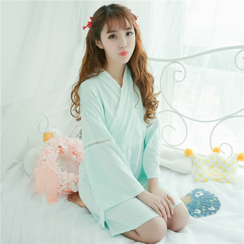Princess sweet lolita Chinese style Hanfu Cotton Nightgowns Sleepshirts Retro style girls' Home wear QQ043