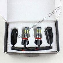 H8 супер свет Angel Eyes свет 120 Вт Angel Eyes Передние Фары Комплект Led H8 Противотуманные Фары для X5 E70 X6 E71 E90 E91 E92 M3 E60