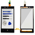 Touch Screen Front Digitizer Glass Display Frame For Nokia Lumia 720 N720 Touch Panel Accessories With Sensor Flex Cable & Logo