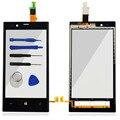 Touch screen frente digitador de vidro quadro de exibição para nokia lumia 720 Painel de Toque N720 Acessórios Com Sensor Flex Cable & logotipo
