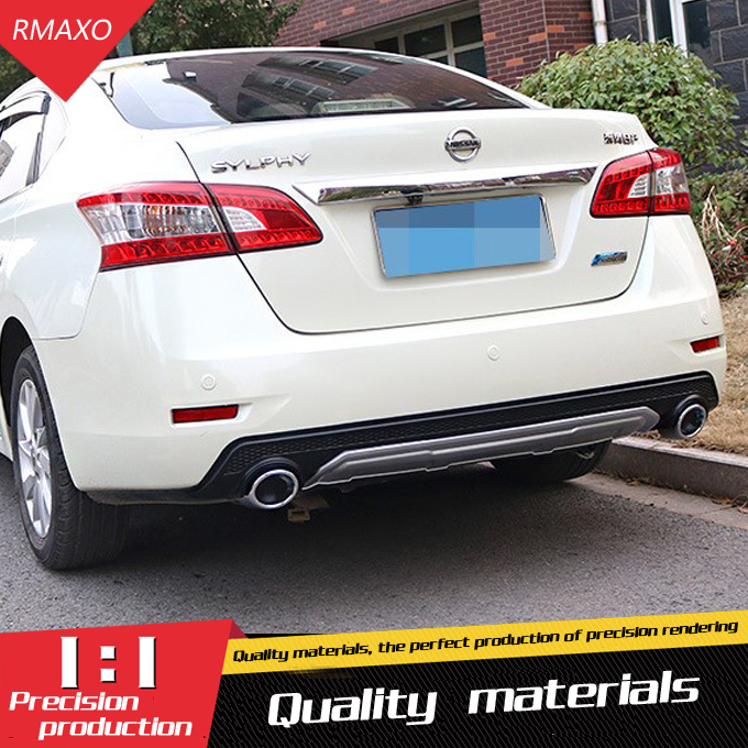 For Sentra Rear spoiler ABS Rear Bumper Diffuser Bumpers Protector For Nissan Sentra Body kit bumper