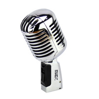 Metal Professional Classic Deluxe Vocal Dynamic Karaoke Microphone Vintage Mic For Audio Mixer DJ Home Party Musical Instrument