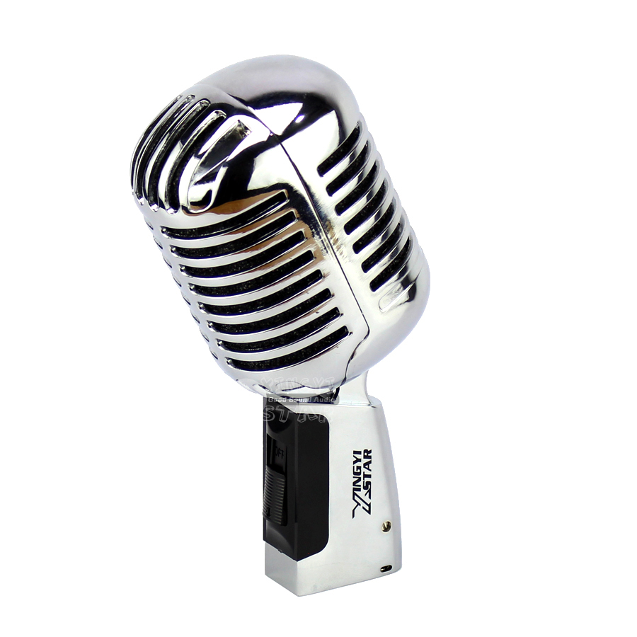 Professional Classic Deluxe Vocal Dynamic Karaoke Microphone Retro Vintage Mic For Computer Audio Mixer DJ Recording Studio Sing free shipping high quality version sm 58 58lc sm58lc wired vocal karaoke handheld dynamic microphone microfone microfono mic