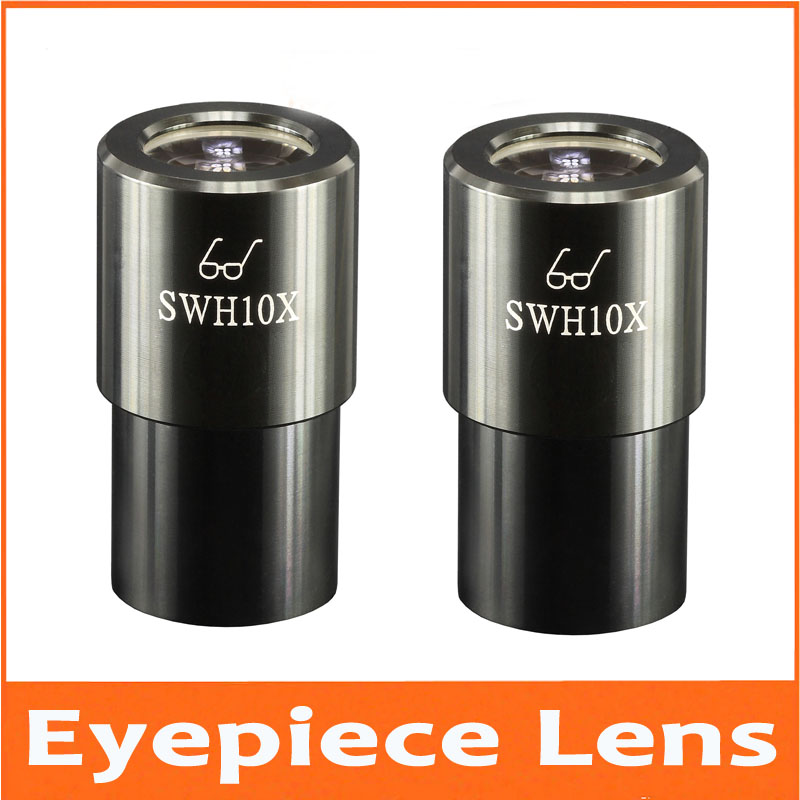 10x Stereo eyepiece ultra wide-angle eyepiece SWH10x 23mm microscope 23mm super field of view 30mm caliber Eyepiece Lens 0.1mm цена